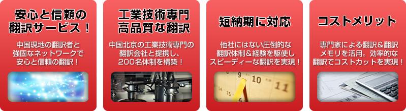 中国語翻訳ラボの産業機械翻訳&工業技術翻訳の特長