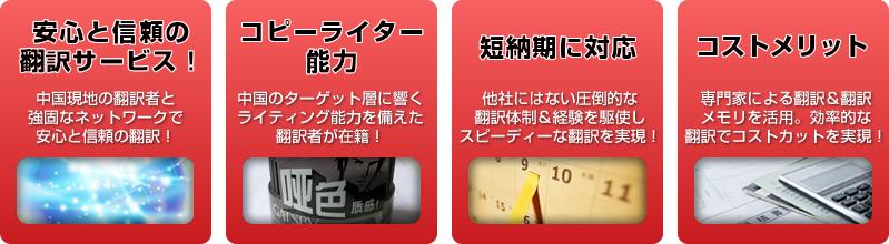 中国語翻訳ラボのマーケティング翻訳の特長