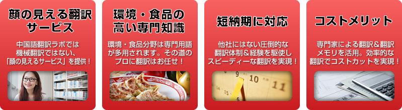 中国語翻訳ラボの環境翻訳/食品翻訳の特長