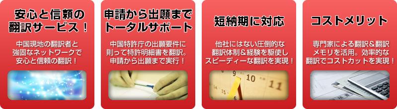 中国語翻訳ラボの特許翻訳の特長